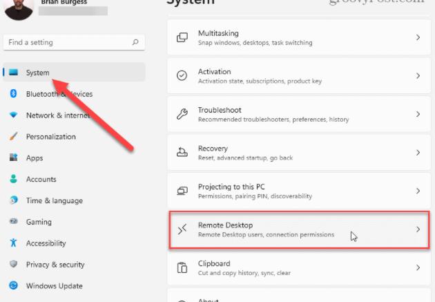 windows11正式版怎么启用远程桌面RDP